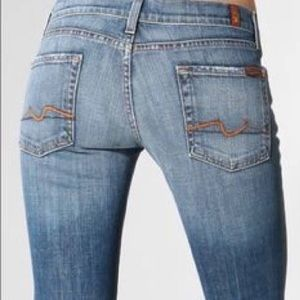7FAM Well Worn Distressed Ripped Jeans 29